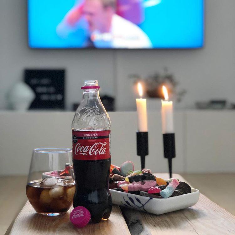 coca cola zero hindbær