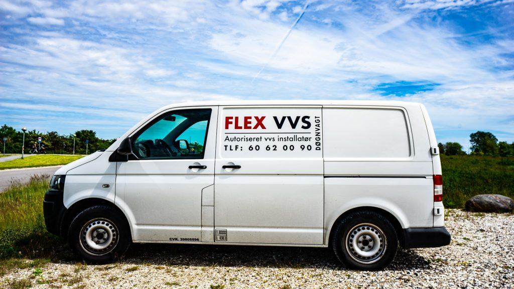 flex vvs varevogn der holder parkeret i stenløse